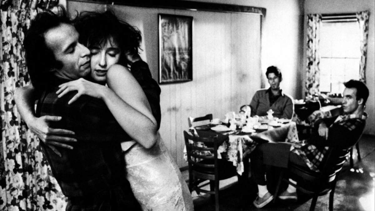 Roberto Benigni, Nicoletta Braschi, Tom Waits and John Lurie in Down By Law